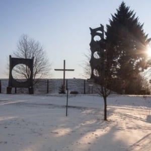 Zasněžená romantika nad Krmelínem u Ostravy