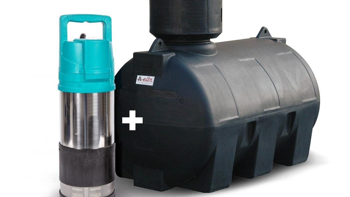 Retenční nádrž na dešťovku a čerpadlo