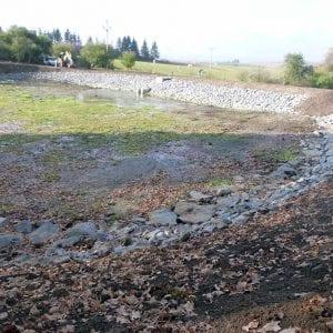 Povodí Moravy dokončuje obnovu vodní nádrže Tetětice