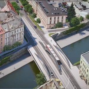 V pondělí začne demolice části mostu na Masarykově třídě