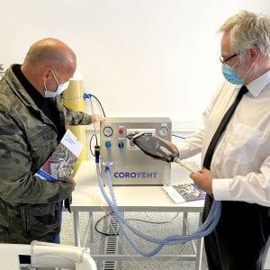 SVAS: Český výrobek CoroVent začíná pomáhat i díky vodohospodářům z Kladna