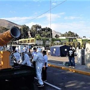 Mlžná děla HENNLICH proti koronaviru: Dezinfikují ulice v Peru a Chile
