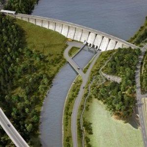 Povodí Odry k připravovaným přehradám